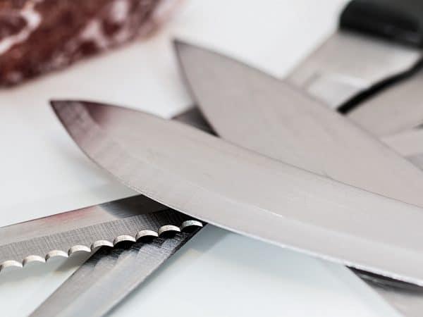 Messer geschärft
