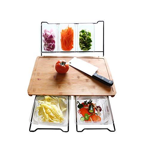 MLZYKYJZ Hölzernes Brotbrett/hackendes Brett, antibakterielle Schneidebrett-Küchen-Multifunktionswerkzeuge für Gemüseobst